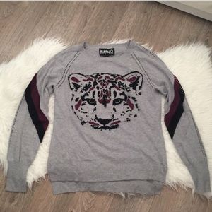 Buffalo Sweater with Leopard Face